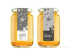 Packaging Sierra View Honey - Packaging Exploration by Kylie Sky Souza for Laxalt & McIver on Dribbb Honey Packaging, Food Packaging Design, Bottle Packaging, Design Package, Label Design, Honey Bottles, Design Food, Design Design, Honey Label