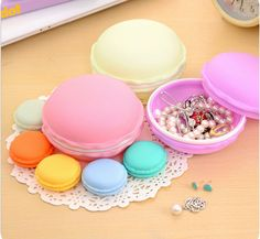 * Penny Deals * - Online Lovely Macarons Organizer Storage Box,space-saver Portable Earphone SD Card Macarons Case, Necklace Rings Earrings Storage Box jewelry-organizers >>> Check this awesome product by going to the link at the image.