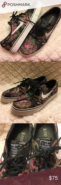 """Nike SB Zoom Digi Floral Stefan Janoski Limited Release Nike SB Zoom Stefan Janoski """"Digi-Floral"""" shoes. Worn only a few times and these shoes show it. Size: 7.5 (mens) 9.5 (womens) Nike Sb Shoes Athletic Shoes"""