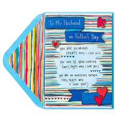 My new Papyrus card for Father's Day: That's Why I Love You (For Husband)