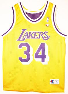 Champion NBA Basketball Los Angeles Lakers #34 Shaquille O'Neal Trikot / Jersey Size 48 - Größe XL - 119,90€ #nba #basketball #trikot #jersey #ebay #etsy #hood #sport #fitness #fanartikel #merchandise #usa #america #fashion #mode #collectable #memorabilia #allbigeverything