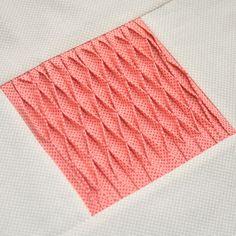 Smocked tucks – Textured quilt sampler