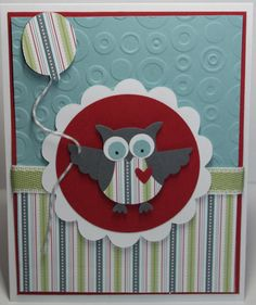 Owl Birthday Card Stampin Up Handmade by BeingACreativeMom on Etsy, $2.50