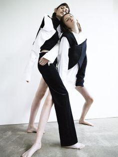 """Hair Stylist Tuan Anh Tran works with photographer Felix Cooper, editor Ben Perreira and models Chloe Wheatcroft and Roger on the story """"The Imperfect"""" for CR Fashion Book, October Foto Fashion, Fashion Art, Fashion Design, Fashion Trends, Fashion 2016, Fashion Photography Poses, Fashion Poses, Fashion Editorials, Editorial Photography"""
