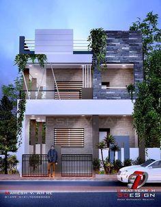 House Facade Design Modern Architecture Front Doors Ideas For 2019 Home Map Design, Villa Design, Facade Design, Exterior Design, Gate Design, House Front Design, Cool House Designs, West Facing House, Townhouse Exterior