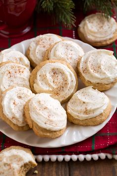 Eggnog Cookies - amazingly soft and tender and perfectly tasty with rich eggnog flavors! One of the best Christmas cookies! Eggnog Cookies - amazingly soft and tender and perfectly tasty with rich eggnog flavors! One of the best Christmas cookies! Best Christmas Cookies, Holiday Cookies, Holiday Baking, Christmas Desserts, Christmas Baking, Holiday Treats, Vegan Christmas, Baking Recipes, Cookie Recipes