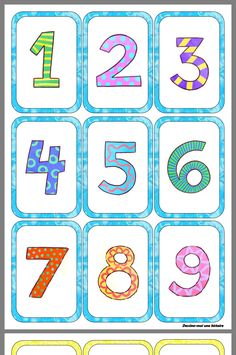 Learning Cards, Preschool Learning Activities, Preschool Worksheets, Preschool Activities, Kids Learning, Math Numbers, Letters And Numbers, Baby Gift Wrapping, Fairy Tales For Kids