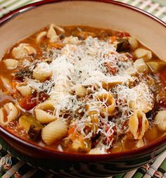 Minestrone soup - absolutely to die for!