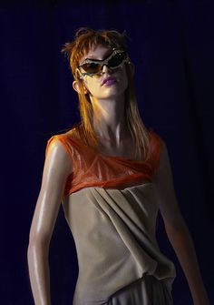 Julia, photographed by Ivona Chrzastek, styled by Grace Joel, hair by Susanne Lichtenegger, makeup by Mai Kodama, set design by Kerry Hughes
