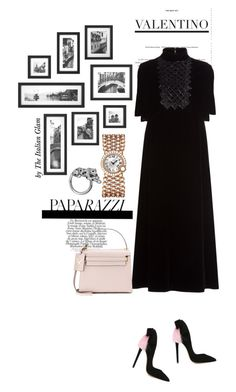 """Valentino velvey dress"" by theitalianglam ❤ liked on Polyvore featuring Aleksander Siradekian, Valentino, Cartier, women's clothing, women's fashion, women, female, woman, misses and juniors"
