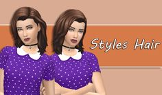 My Sims 4 Blog: Movie Hangout Hair Converted for Females by XDeadGirlWalking