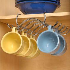 Under Shelf Hanging Mug Holder