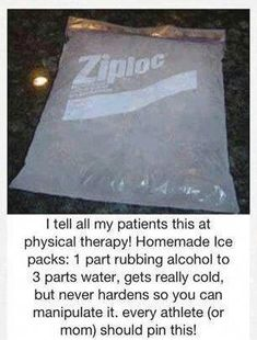 Flu Remedies This home made ice pack can be in your freezer all ready to go for bumps and necks and hardly costs anything. One part rubbing alcohol to three parts water. Gets really cold but never hardens. Just like a real cold pack! Mason Jar Crafts, Mason Jar Diy, Diy Hacks, Cleaning Hacks, Diy Hanging Shelves, Arthritis Remedies, Health Remedies, Arthritis Relief, Flu Remedies