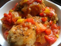 Home Cooking In Montana: Chicken Cacciatore (Food Network)