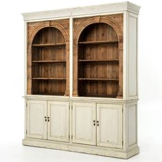 Antique style and modern design are reflected in the functional Swedish Grey Stanford Reclaimed Wood China Cabinet Hutch. This hutch cabinet features eco-friendly construction and classic architectural domed arches for charming French style home decor. Country Furniture, Home Furniture, Painted Furniture, Furniture Ideas, Bedroom Furniture, Entryway Furniture, Farmhouse Furniture, Cabinet Furniture, Furniture Outlet