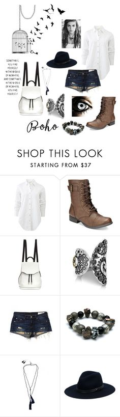 """Casual boho fashion"" by vanessaperez0413 ❤ liked on Polyvore featuring rag & bone, American Rag Cie, Bohemme, rag & bone/JEAN and Zacasha"