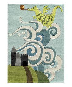 Sky Dragon Area Rug by Momeni Rugs #zulily from small to large and everywhere in between! This dragon rug even comes in round. Perfect for a knight in shining armor or fairtytale nursery or kids bedroom. Boys or girls!
