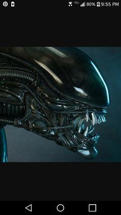 Aliens, Xenomorph, Hallows Eve, Helmet, Sci Fi, Bicycle, My Favorite Things, Fictional Characters, Art