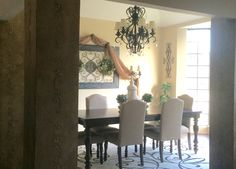 My transitional Tuscan inspired dining room, almost complete  #tuscan #renovation #transitional
