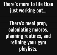 There's more to life than working out... #exercise #humor #youcan