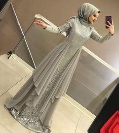 2019 Hijab Evening Dress Models and Prices Attractive Women Hijab Dress Hijab Gown, Hijab Evening Dress, Hijab Dress Party, Hijab Style Dress, Muslimah Wedding Dress, Evening Dresses, Dress Muslimah, Wedding Abaya, Dress Brukat