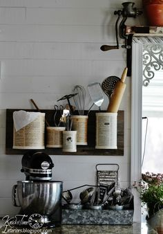 """How much disorganized clutter is in your home? I have more """"stuff"""", than I have places to put it, so it was time to come up with some organizers, that don't cos…"""
