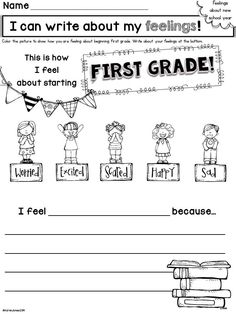 Back to School Printable Pack for First Grade! Perfect activities for the first few weeks of school! $