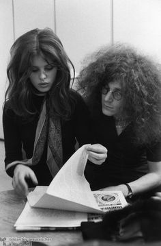 """Uschi Obermaier and Rainer Langhans, Members of """"Commune I"""" (1969) Pictured here are commune members Uschi Obermaier and Rainer Langhans. On account of Obermaier's modeling career and the couple's public discussion of all aspects of their relationship, they soon became the most prominent members of the group."""