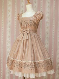 puff sleeves, bow and ruffle, I love  this kind of dresses!