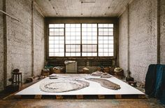 The artisan finds inspiration in the former New York synagogue where she now creates her striking textiles.