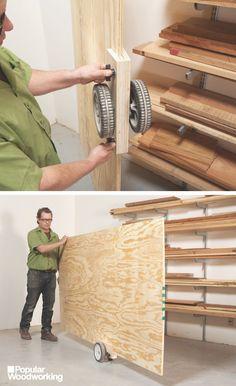 Workshop Tips: Plywood Caddy | Popular Woodworking Magazine Woodworking Guide, Woodworking Supplies, Woodworking Workshop, Popular Woodworking, Woodworking Furniture, Fine Woodworking, Woodworking Crafts, Woodworking Techniques, Woodworking Magazines
