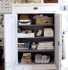 Craft Room cupboard  Songbirdblog