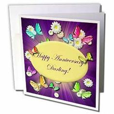 "Edmond Hogge Jr Butterflies - Magical Swallowtails and Daisies Happy Anniversary - Greeting Cards-6 Greeting Cards with envelopes by Edmond Hogge Jr. $10.49. Magical Swallowtails and Daisies Happy Anniversary Greeting Card is a great way to say ""thank you"" or to acknowledge any occasion. These blank cards are made of heavy duty card stock with a gloss exterior and a matte interior for smudge free writing. Cards are creased for easy folding and come with white envelopes. Avail..."