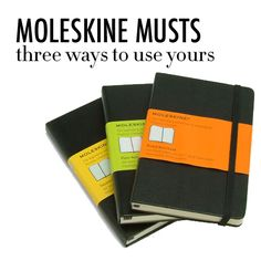 The Wonders of Moleskine! ~ Moleskine Journals That Is... / TheCollegePrepster