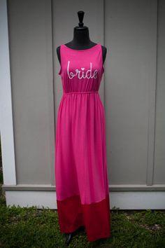 ON SALE Pink Maxi Bride Dress Small/Medium by thearmorofGod on Etsy, $35.00