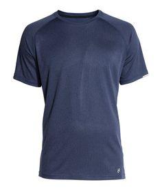Short-sleeved Running Shirt | Dark blue.