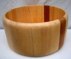 Large Arabia salad bowl in birch wood - 2012001