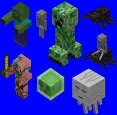 Image result for minecraft ps4 monsters