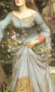 Ophelia (details) - John William Waterhouse, 1894 and 1910