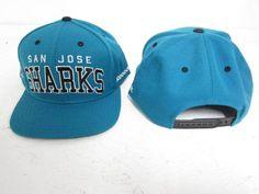 936f0a68725 SAN JOSE SHARKS REEBOK RETRO ADJUSTABLE SNAP BACK CAP HAT FREE SHIPPING   Reebok  SanJoseSharks