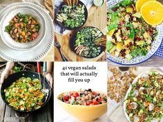There's nothing worse than a vegetarian meal that leaves you feeling hungry. These 41 filling vegan salads are sure to satisfy and nourish!