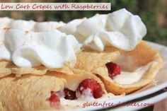 Low Carb Crepes with Raspberries
