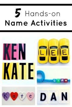5 more ways to help kids learn to spell names. Name Activities for Kids.