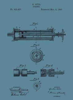 Syringe Patent Drawing Blue