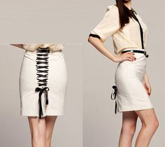 women's Black Office Lady skirt Pencil by beatbbcustom, $39.98
