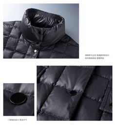 New Winter Coldproof Thick Down Jacket Men Warm Waterproof Male Fashion 90% White Duck Down Coat Long Down Hood Parkas To Produce An Effect Toward Clear Vision Jackets & Coats Men's Clothing