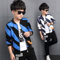 Cheap children sport set, Buy Quality boys set directly from China children sport Suppliers: Clothing Cotton Clothing Teenage Boy Set Children's Sports Set Children's Sports Pants Boy Striped Jackets & Pants Sport Outfits, Kids Outfits, Hood By Air, Cocktail Wear, Adolescents, Baseball Pants, Boys Suits, Striped Jacket, Sport Pants