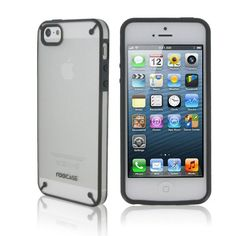 rooCASE Fuse Shell Snap-On Case for Apple iPhone 5 - Frost/Gray:Amazon:Cell Phones & Accessories