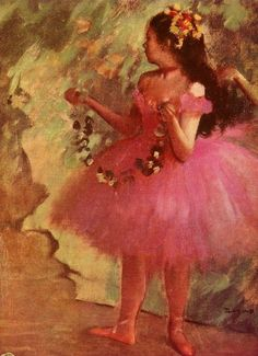 Dancer in Pink Dress ~ Edgar Degas