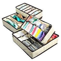 #Storage Product Description: Brand: #Creatov Package included: 6 cell *2 + 8 cell + 24 cell; 6 #cell for under wears or ties: 33*16*9cm; 8 cell for socks: 28*14....